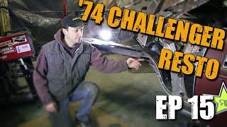 74 Dodge Challenger Restoration #15 - Pulling out RUSTY passenger QUARTER PANEL