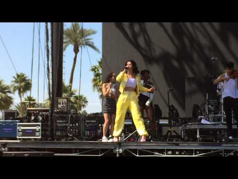 Marina performs DISCONNECT with Clean Bandit Coachella 2015