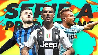 OUR SERIE A PREDICTIONS & PREVIEWS! WHO'S WINNING THE SCUDETTO?!