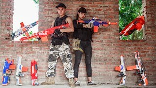 Nerf Guns War:  S.W.A.T Girl Of Special SEAL TEAM Rescue S.W.A.T Men Attack Dangerous Enemies