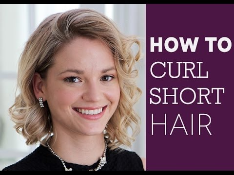 How To Curl Short Hair Youtube