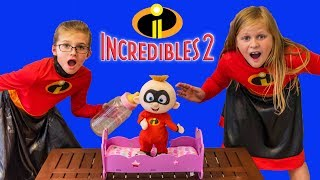 Incredibles 2 Baby Jack Jack Goes Missing with the Assistant Babysitting with PJ Masks Cave Hunt thumbnail