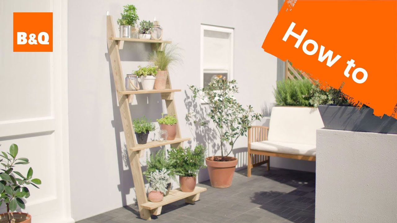 How To Make A Ladder Planter Youtube