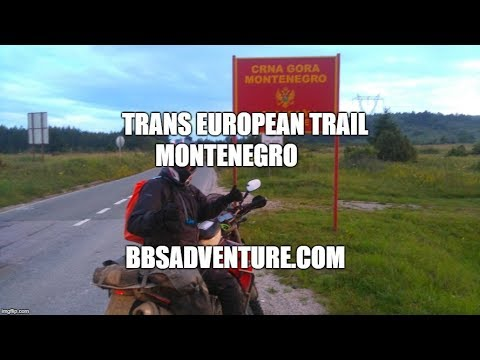 Trans European trail - TET - Montenegro - Bulgaria bike ship