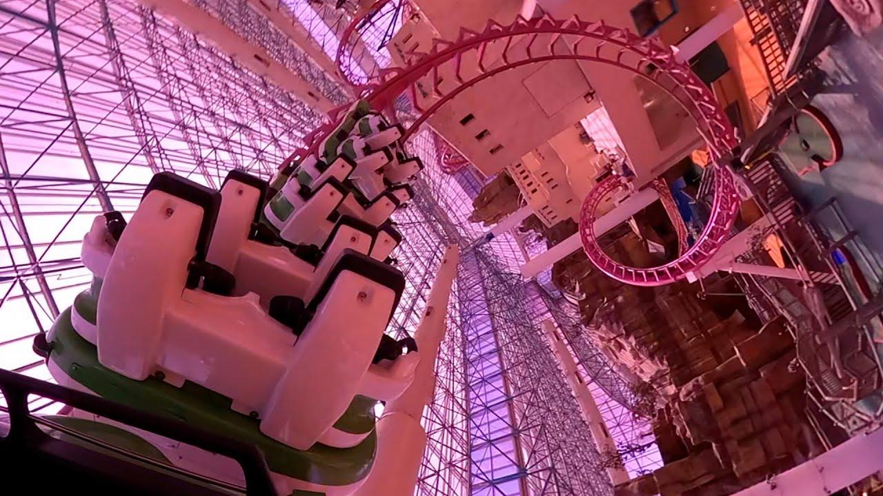 Canyon Blaster Roller Coaster! Adventuredome Las Vegas! Back Seat POV!