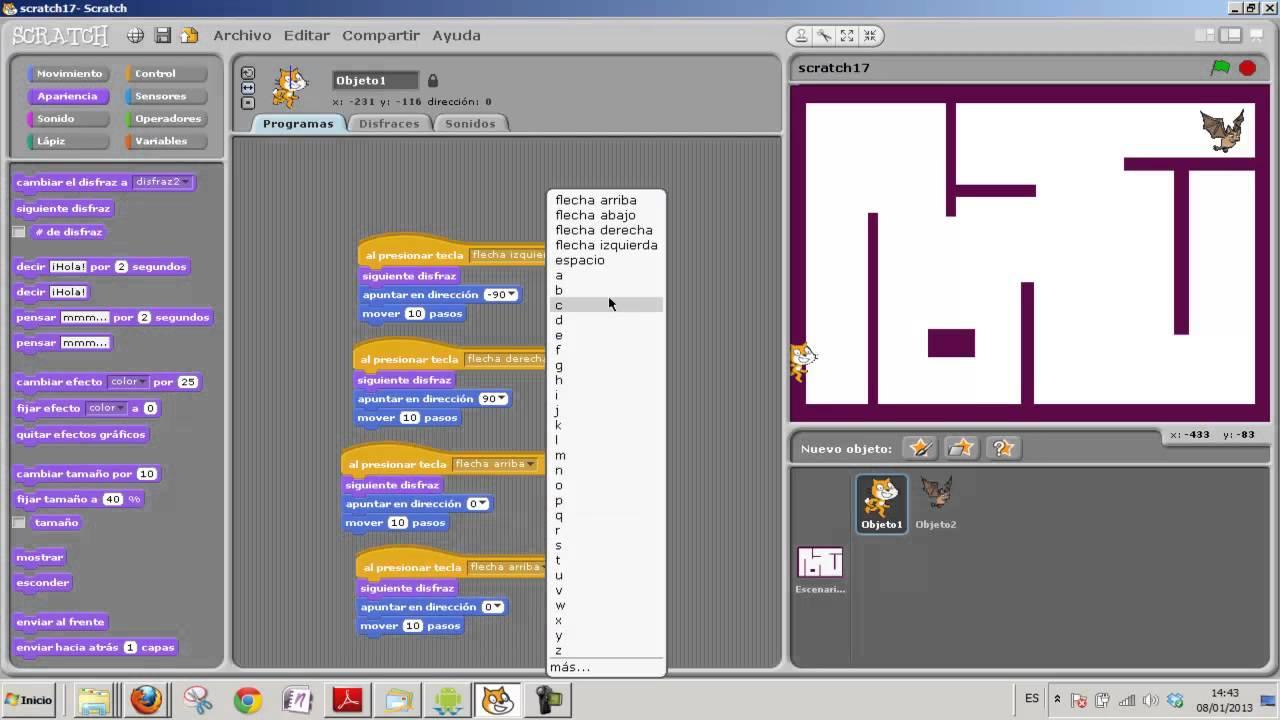 Academia Estepona Usero Scratch 17 Juego De Laberinto Programacion