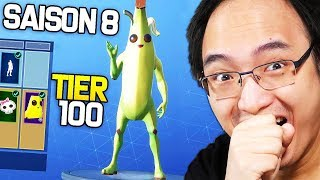 😍 SAISON 8 😍 - I BOUGHT ALL THE PALIERS OF COMBAT PAS ON FORTNITE BATTLE ROYALE!