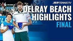Reilly Opelka Beats Nishioka To Win 2nd Title | Delray Beach 2020 Final Highlights