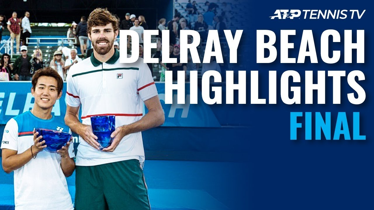 Reilly Opelka Beats Nishioka To Win 2nd Title | Delray Beach 2020 Final Highlights
