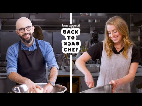 Binging with Babish Tries to Keep Up with a Professional Chef | Back-to-Back Chef | Bon Appétit
