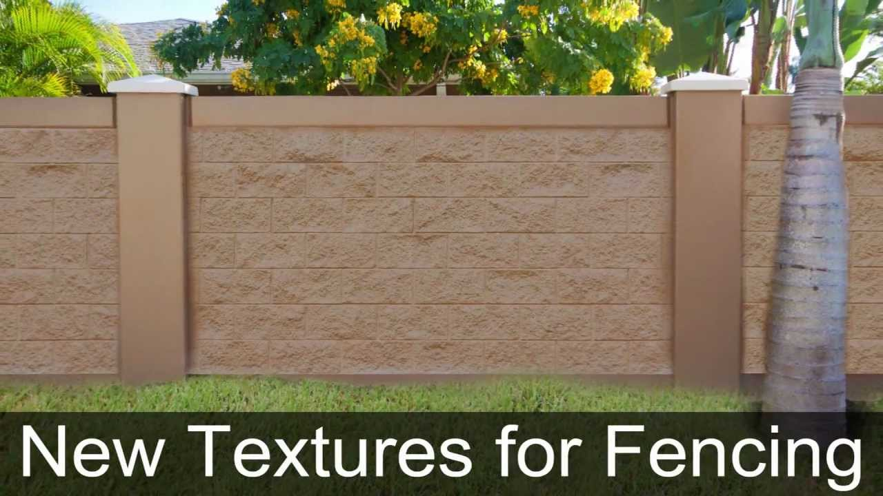 New Textures For Precast Concrete Fence Walls With Split Face - Cinder block wall fence ideas