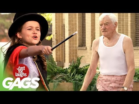 Kid Magician Casts A Spell On Old Man