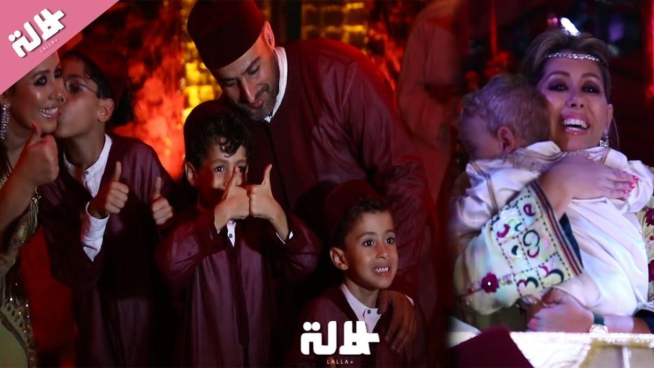 """على إيقاعات الشعبي..صونيا النكادي ترقص رفقة أطفالها وزوجها في حفل ختان ابنها """"يوري"""""""
