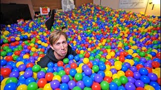 PRANKED BROTHER W/ 50,000 BALLS IN HIS ROOM! (PISSED HIM OFF)