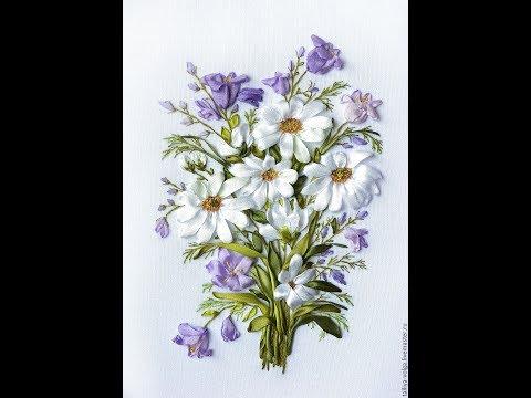 Вышивка лентами полевые цветы