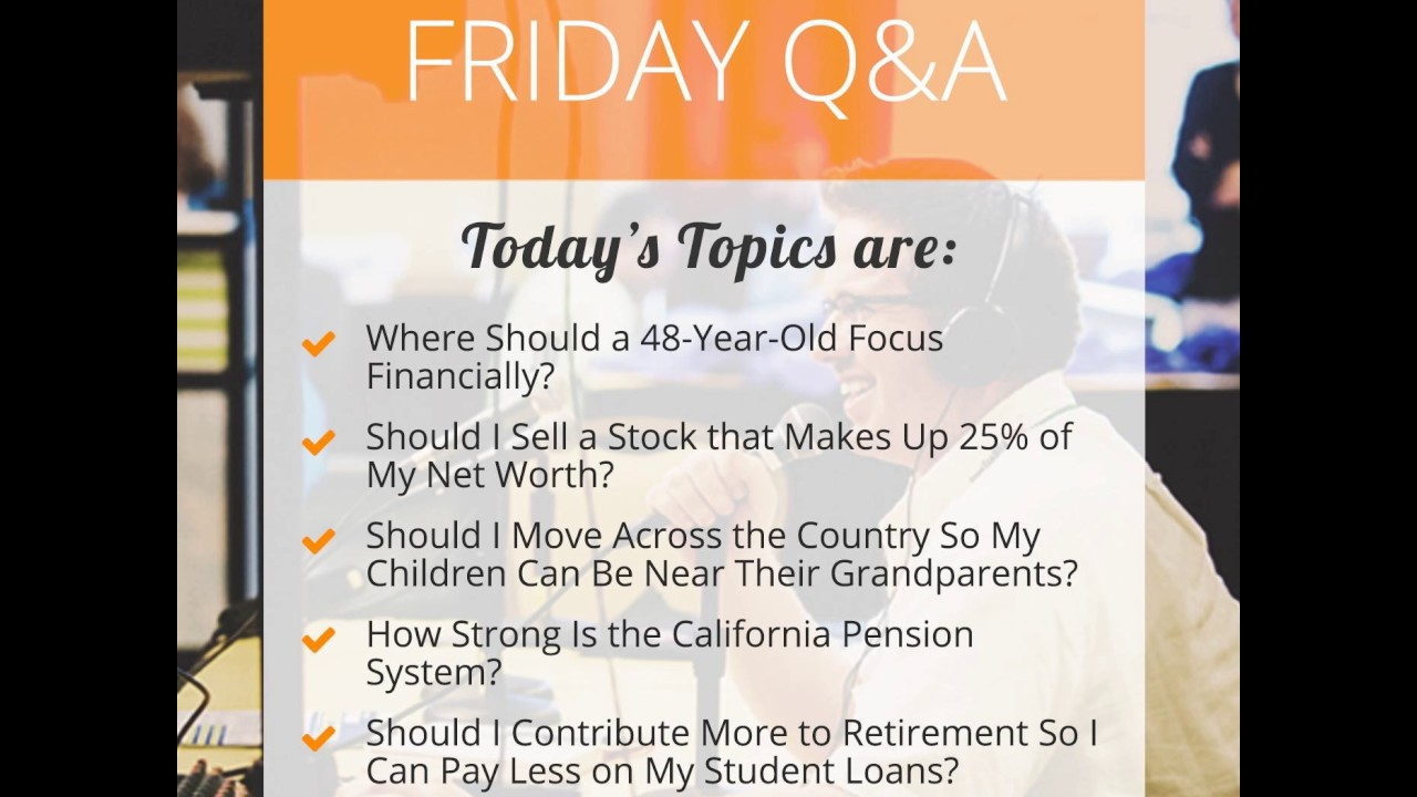 454-Friday Q&A: Where Should a 48-Year-Old Focus Financially, Should I Sell  a Stock that Makes