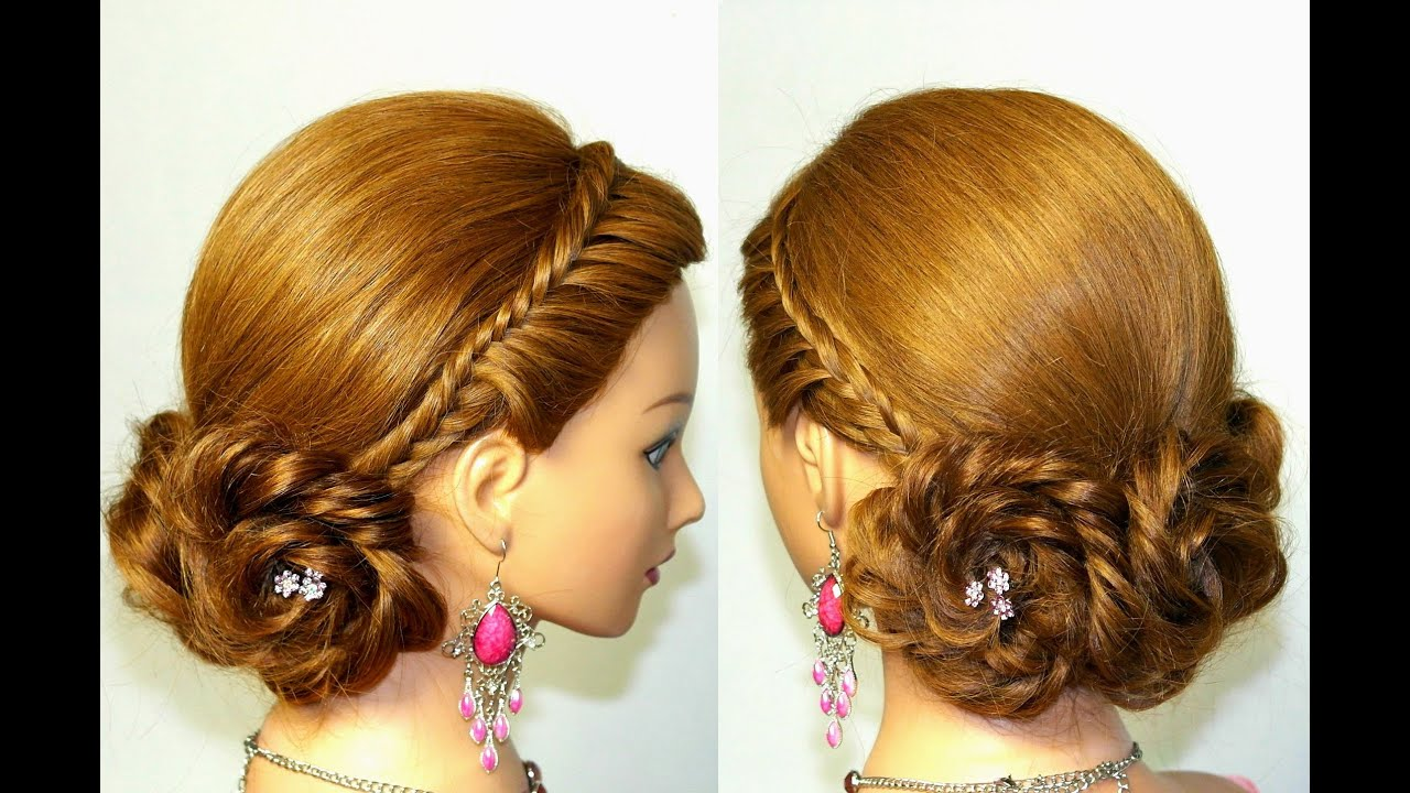 Cute hairstyle for long hair Braided updo