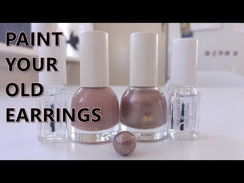 DIY paint your old earrings with nailpolish