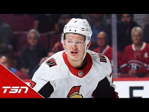 Brady Tkachuk reveals text brother Matthew sent him after first NHL fight