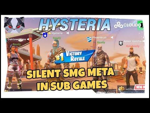 Hysteria  Fortnite Battle Royale   Season 5 Silent SMG Meta in Sub Games