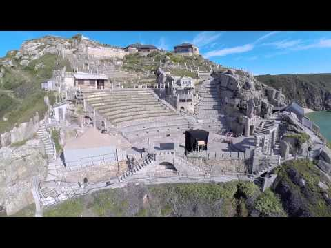 Aerial Cornwall : The Minack Theatre