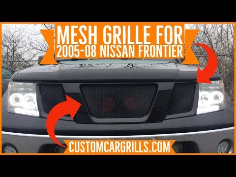 nissan frontier 2005 2008 mesh grill installation how to by customcargrills com youtube nissan frontier 2005 2008 mesh grill
