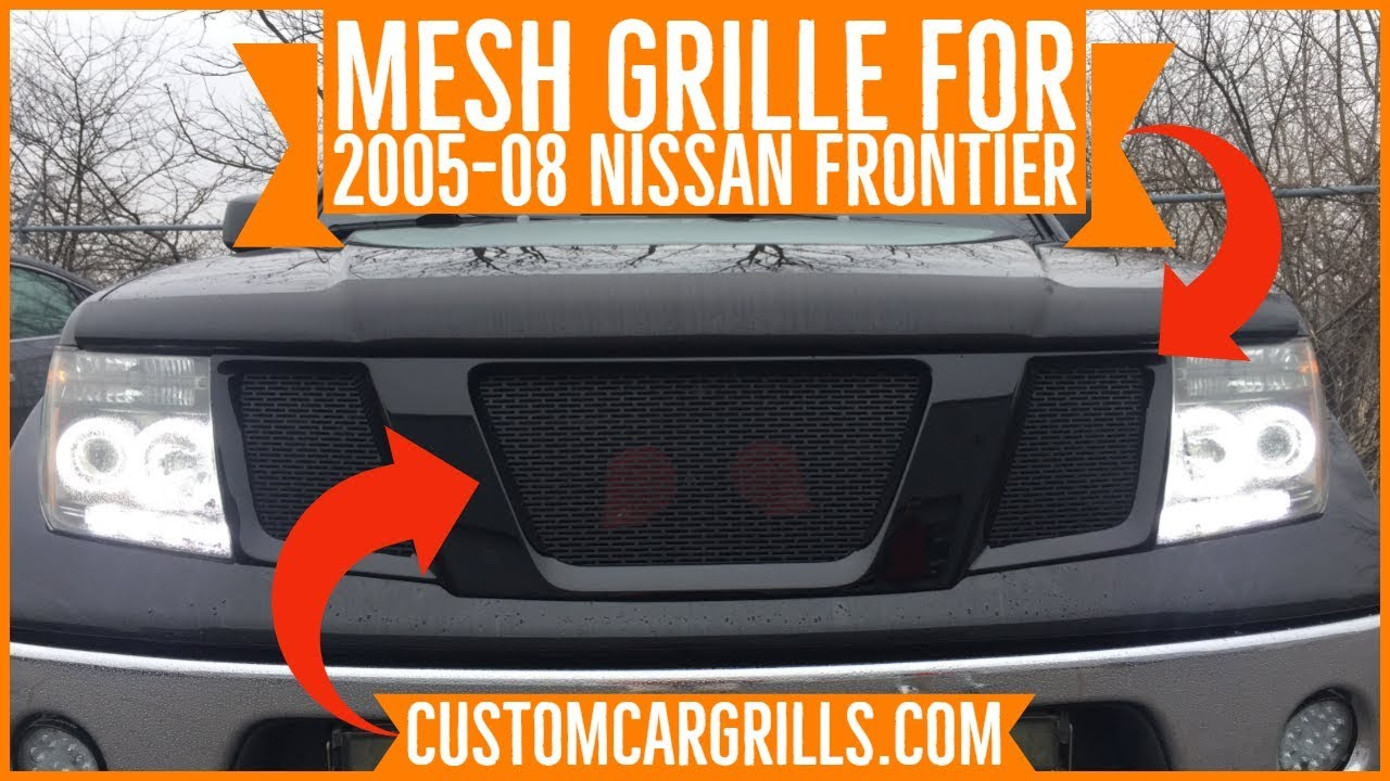 nissan frontier 2005 2008 mesh grill installation how to by customcargrills com youtube nissan frontier 2005 2008 mesh grill installation how to by customcargrills com