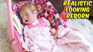 How to Make Your Reborn Baby Doll Look More Realistic in Joovy Car Seat  | The Patsy Family