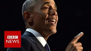 Barack Obama farewell speech highlights - BBC News Free HD Video