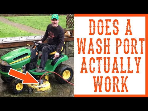 How to Clean Under the Mowing Deck on a Lawn Tractor or Riding LawnMower - Video