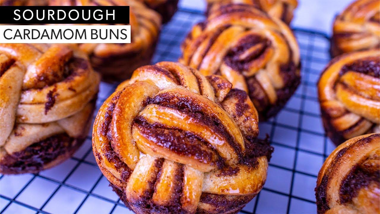 Swedish Cardamom Buns with Spelt Flour and Sourdough