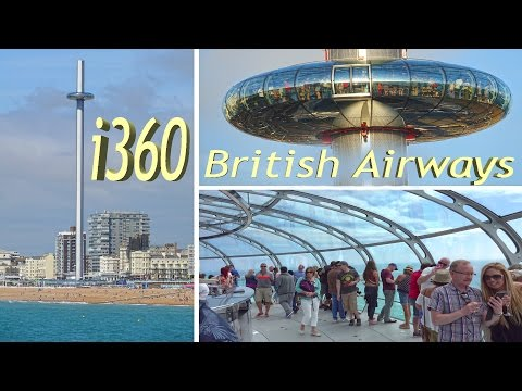 i360 British Airways - Brighton, Observation Tower and Opening Fireworks 2016 4K