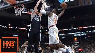 Jeff Green Over Davis Bertans / Cavs vs Spurs