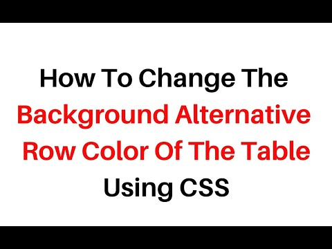 Alternate table row color using CSS styles in html tr