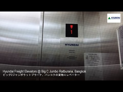 GENERIC Hyundai Freight Elevators @ Big C Jumbo Ratburana, Bangkok