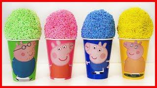 佩佩豬粉紅豬小妹雪花泥培樂多黏土奇趣蛋玩具