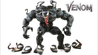 "VENOM MOVIE custom Marvel Legends Monster Venom BAF spider-man 6"" action figure review"