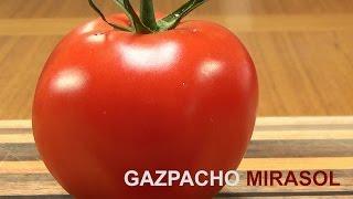 Gazpacho With Red Chile Mirasol  Gazpacho con Chile Mirasol
