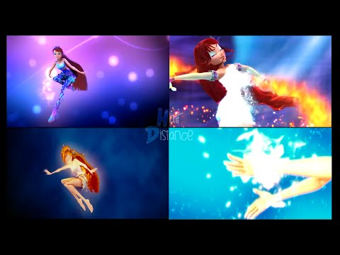 Winx`Club: CGI Enchantix, Believix, Sirenix, Mythix | 4 in 1 Split Screen