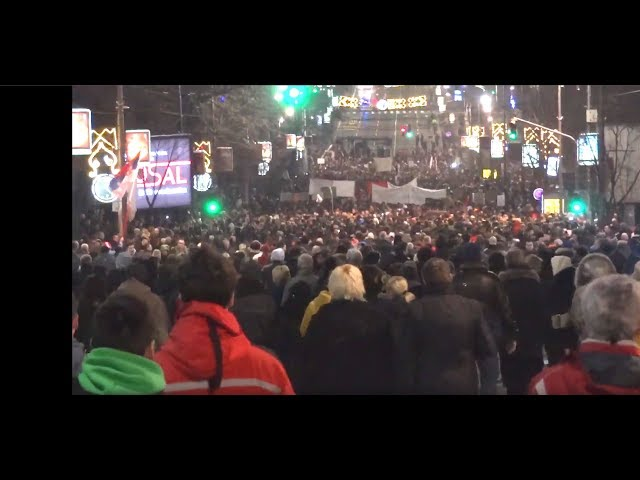 Protest Beograd 09.02.2019. - drugi deo