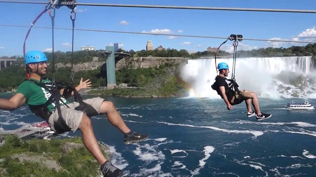 Oserez-vous faire de la tyrolienne aux chutes du Niagara ?