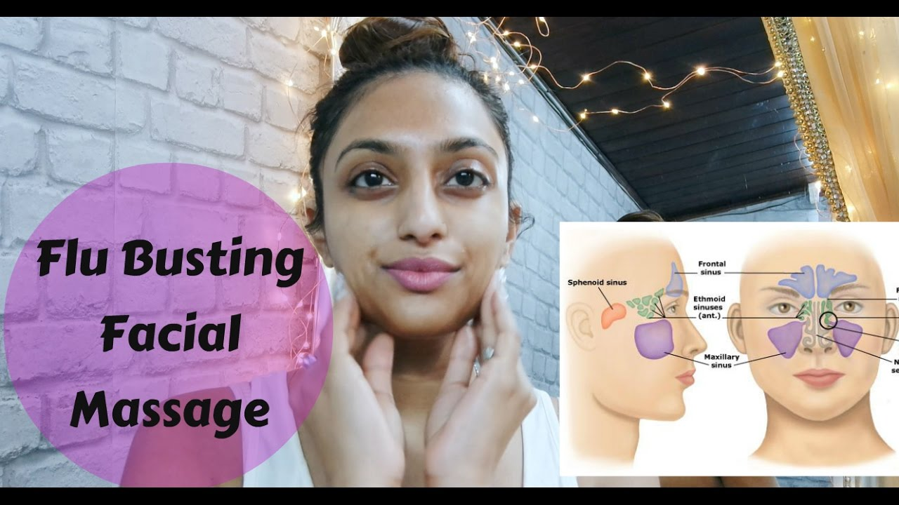 Sinus Cold & Flu Relief self Facial Massage, Lymphatic Drainage ...