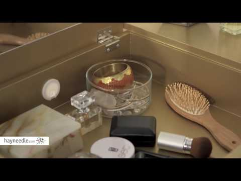 Linon Harper Mirrored Vanity Set - Product Review Video