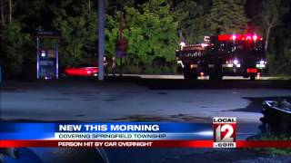 Person hit by vehicle in Springfield Township
