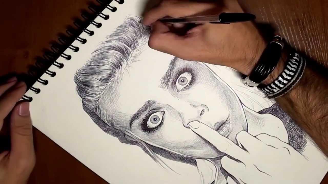 Drawing Cara Delevingne Dibujando a Cara Delevingne  YouTube
