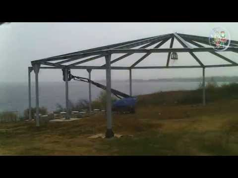 Dachbau am Biedermeierstrand  Zeitraffer