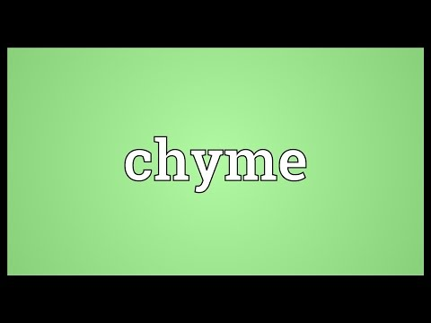 Chyme Meaning