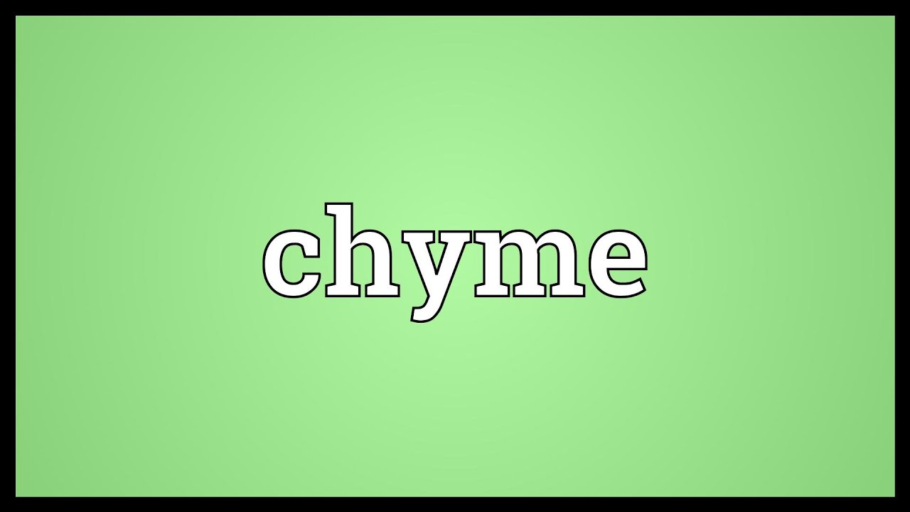 chyme meaning - youtube, Human Body