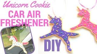 EASY DIY Unicorn Car Air Freshener Felt Cookies Tutorial