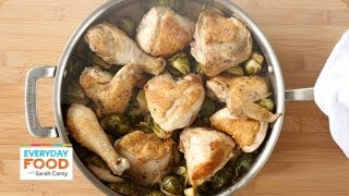 Braised Chicken And Brussels Sprouts - Everyday Food With Sarah Carey